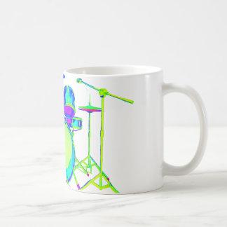 Bunte Trommel-Ausrüstung Kaffeetasse