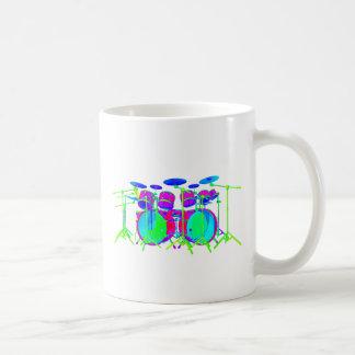 Bunte Trommel-Ausrüstung Tasse