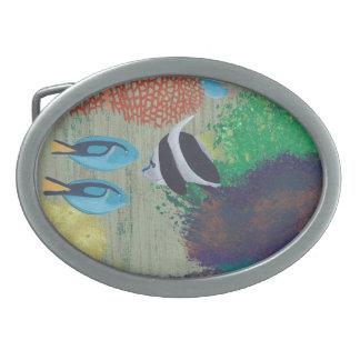 Bunte tropische Fisch-Gürtelschnallen Ovale Gürtelschnallen
