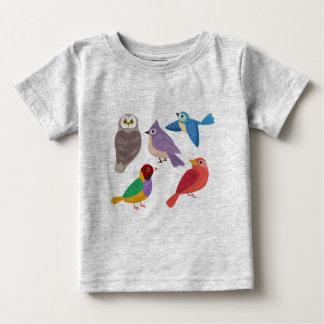 Bunte Vögel Baby T-shirt