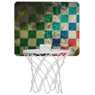 bunte Würfel mit Strudelvektorkunst Mini Basketball Ring