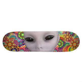 Bunter abstrakter BlumenmusterExtraterrestrial Skateboarddeck