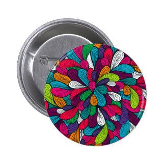 Bunter abstrakter Entwurf Runder Button 5,7 Cm