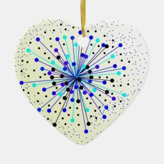 Bunter abstrakter Hintergrund Keramik Herz-Ornament