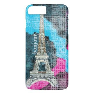 Bunter abstrakter Kunst-Eiffel-Turm Paris iPhone 8 Plus/7 Plus Hülle