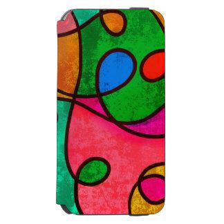 Bunter abstrakter Malerei-Kasten Incipio Watson™ iPhone 6 Geldbörsen Hülle