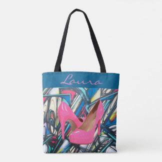 Bunter abstrakter rosa hoher Heels-Muster-Entwurf