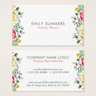 Bunter Blumen-Blumenstrauß Visitenkarte