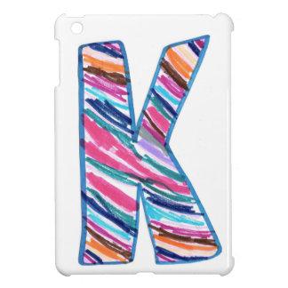 Bunter Buchstabe K wie in Kay iPad Mini Cover