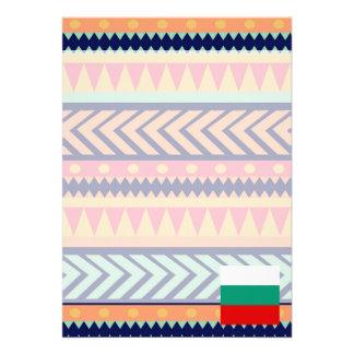 Bunter Bulgarien-Flaggen-Kasten 12,7 X 17,8 Cm Einladungskarte