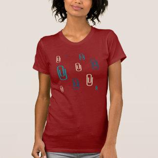 Bunter Büroklammer-Entwurf T-Shirt