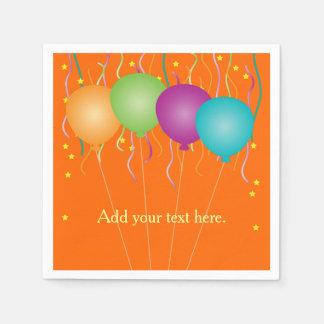 Bunter Confetti u. Ballone irgendeine Gelegenheit Servietten