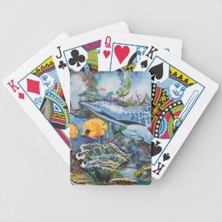 Bunter Delphin und tropische Fische Bicycle Spielkarten