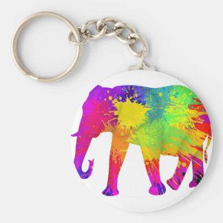 Bunter Elefant-Entwurf Schlüsselanhänger
