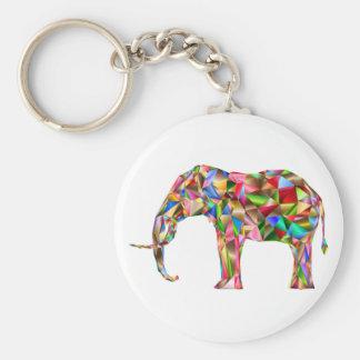 Bunter Elefant Schlüsselanhänger