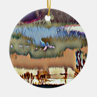 Bunter Fall tonte abstrakten Horizont-Himmel Keramik Ornament