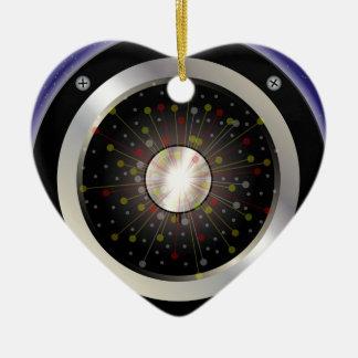 Bunter Felsen-Gitarren-Lautsprecher Keramik Herz-Ornament