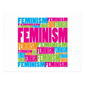 Bunter Feminismus Postkarte