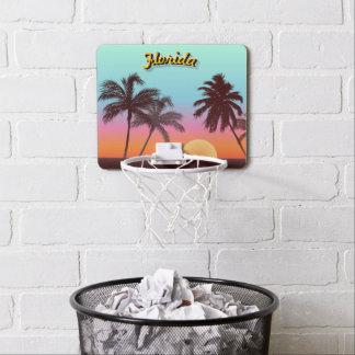 Bunter Florida-Sonnenuntergang Mini Basketball Ring
