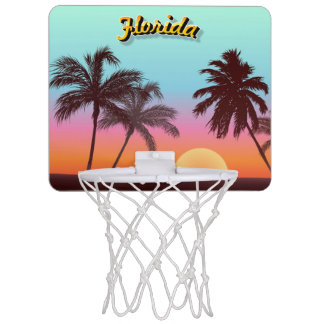 Bunter Florida-Sonnenuntergang Mini Basketball Ringe