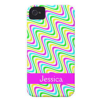 Bunter gewellter Girly NamensiPhone 4 Kasten iPhone 4 Case-Mate Hüllen