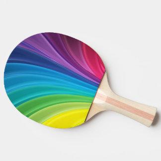 bunter glänzender Regenbogen Tischtennis Schläger