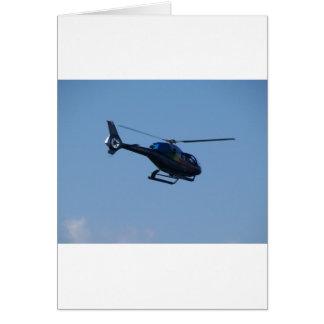 Bunter Hubschrauber E120 Grußkarte