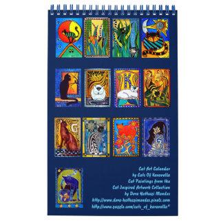 Bunter Katzen-Malerei-Kalender 2018 Kalender