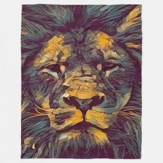Bunter Löwe des Gottes Fleecedecke