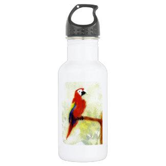 Bunter Macaw-Vogel Trinkflasche