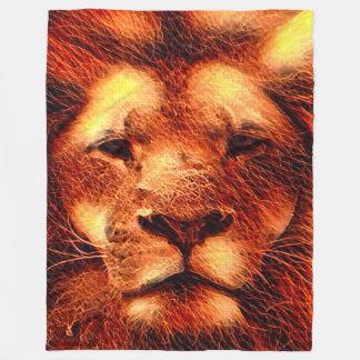 Bunter majestätischer Löwe Fleecedecke