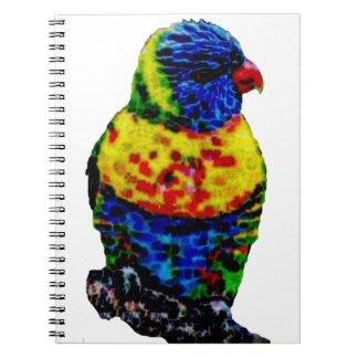 Bunter Papageienvogel Notizblock