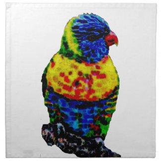 Bunter Papageienvogel Stoffserviette