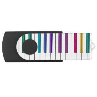 Bunter Regenbogen-Klavier-Musik USB-Blitz-Antrieb USB Stick