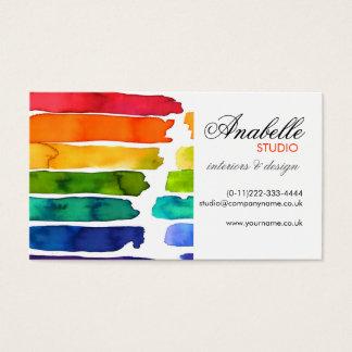 Bunter Regenbogen stripes Innenarchitektur Visitenkarte