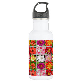 Bunter Sommer-Blumen-Gartendruck Trinkflaschen
