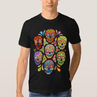 Bunter Tag des toten Zuckerschädel-Shirts Hemd