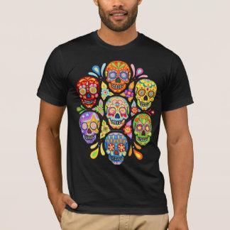 Bunter Tag des toten Zuckerschädel-Shirts T-Shirt