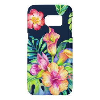 Bunter tropischer exotischer Blumen-Blumenstrauß