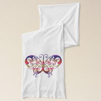Bunter und verzierter Schmetterling auf Schal