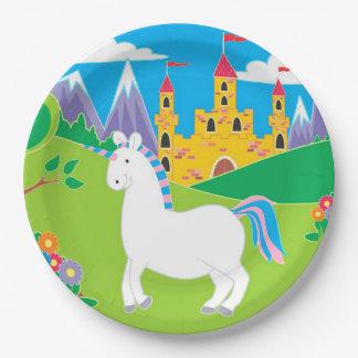 Bunter Unicorn-Geburtstags-Party-Teller Pappteller