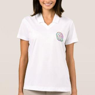 Bunter Wirbel und Schablonen-TextHoodie Polo Shirt