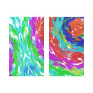 Buntes abstraktes galerie faltleinwand