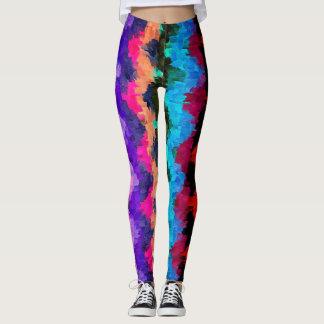 Buntes abstraktes malendes #16 leggings
