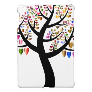 Buntes Baum-Herz Hülle Für iPad Mini