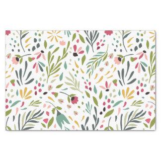 Buntes Blumen-u. Blatt-Muster Seidenpapier