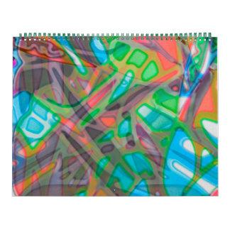 Buntes Buntglas des Kalender-2016 Kalender