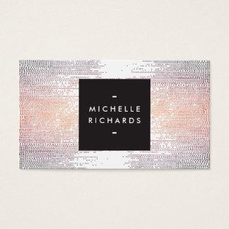 Buntes Confetti-Regen-Muster modern Visitenkarten