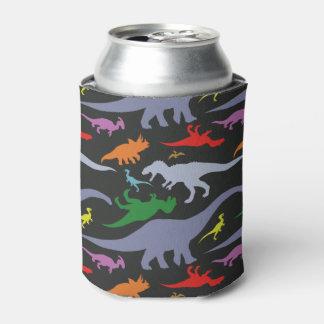 Buntes Dinosaurier-Muster (dunkel) Dosenkühler