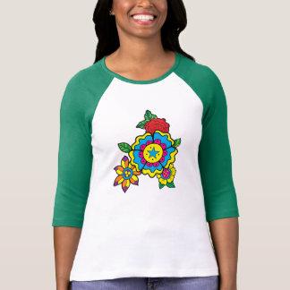 """Buntes """"Durchmesser-DES Los Muertos"""" Ladie 3/4 T-Shirt"""